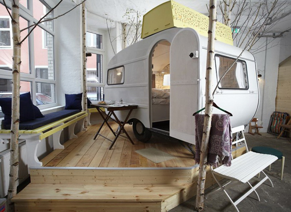 Interesting hotel brings the camping experience indoors