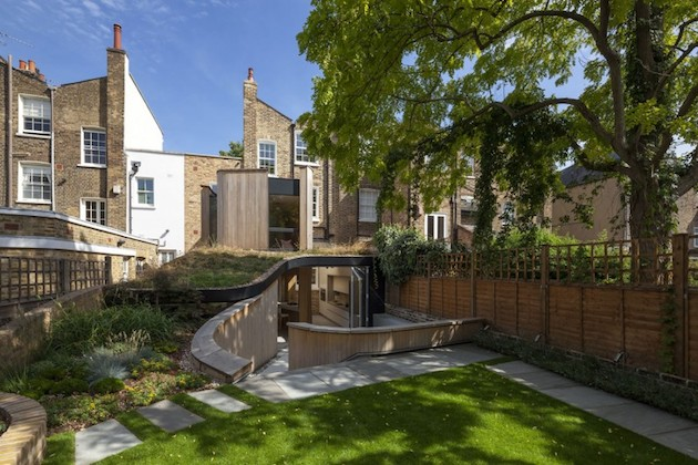Mix and match style at this curved home
