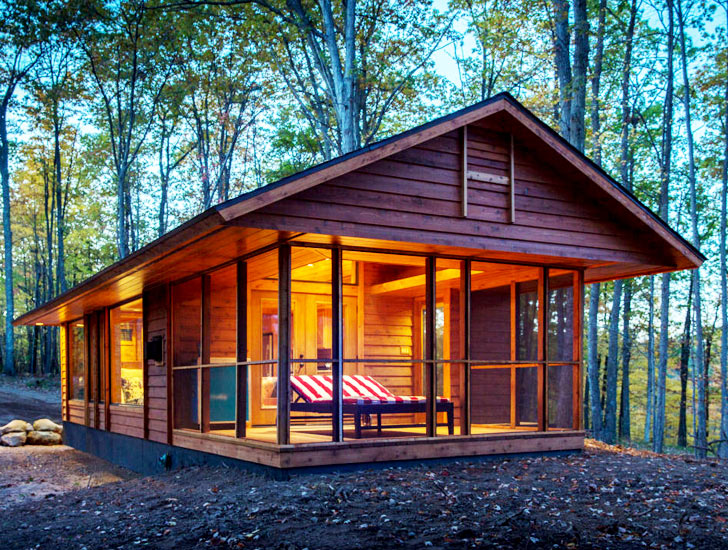 Moveable wooden cabin aptly called Escape
