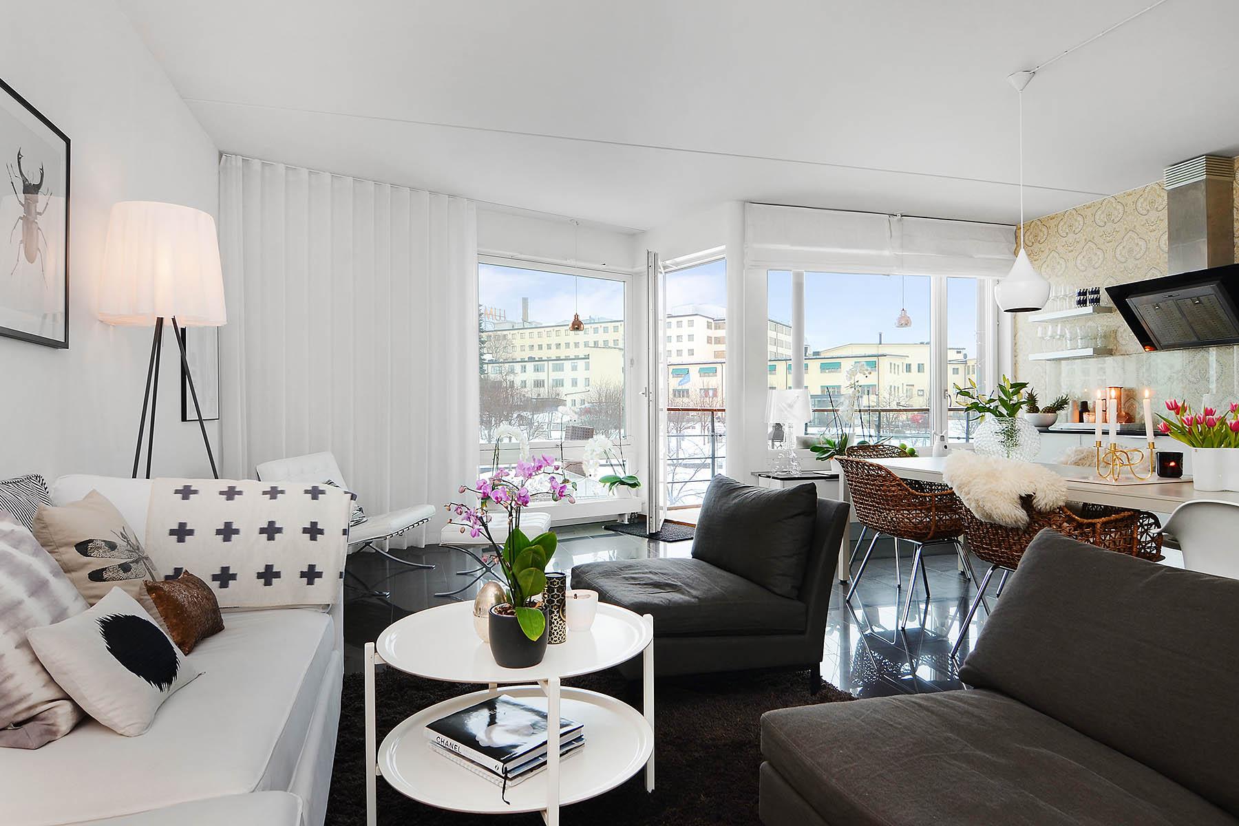Scandinavian apartment interior design