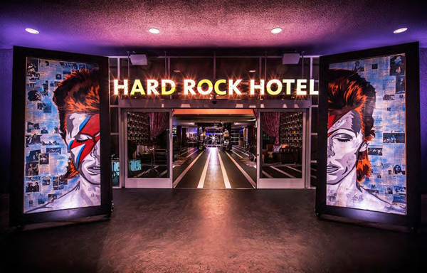 The amazing Hard Rock Hotel in California