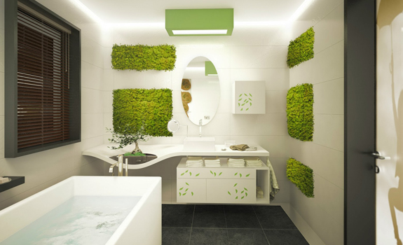 Bathroom vegetation ideas