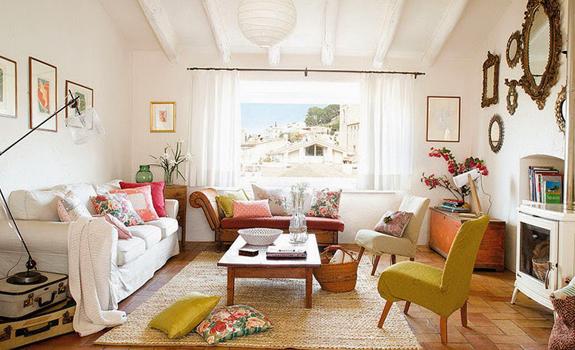 Charming feminine living room