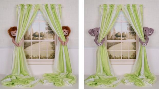 Children's curtain tiebacks