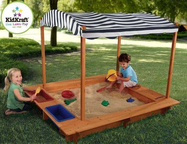 Kid's Sandbox with Canopy