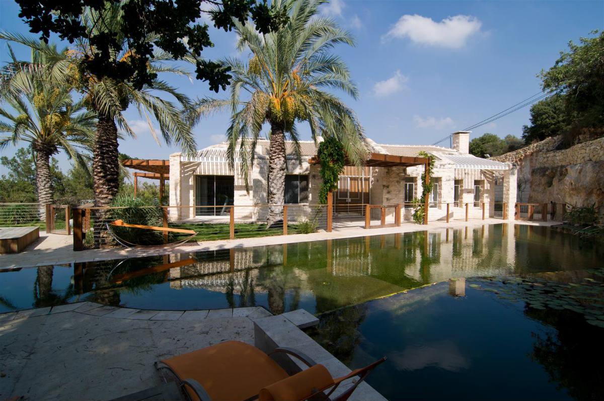 Modern stone home near Jerusalem