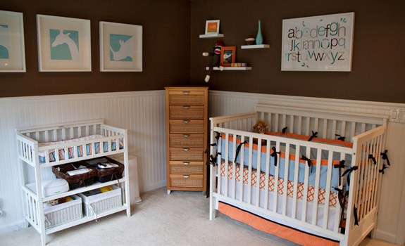 Nursery room in earth tones