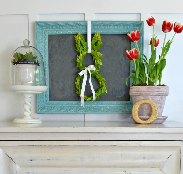 7 ways to decorate with a spring wreath