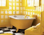 Beautiful yellow bathroom designs