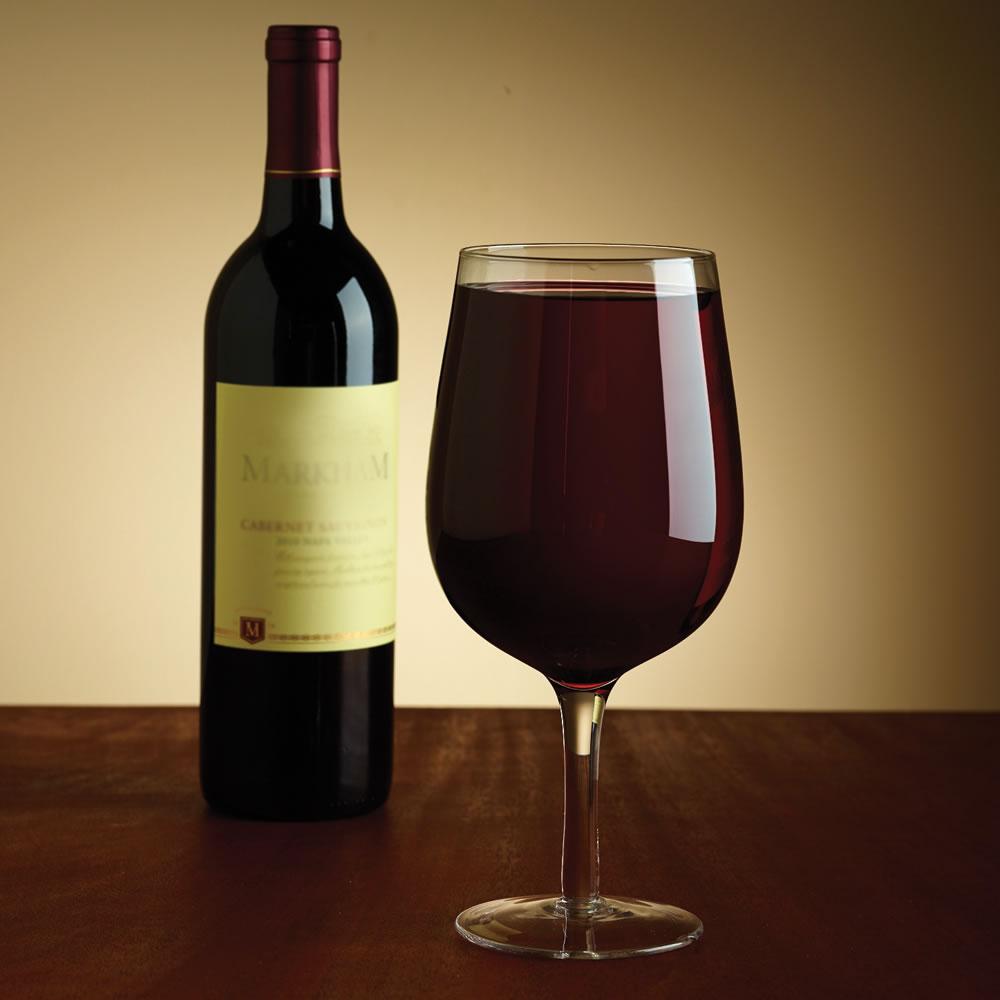 Full bottle wine glass