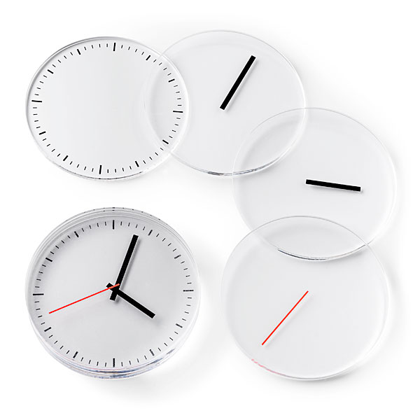 Fun clock coasters