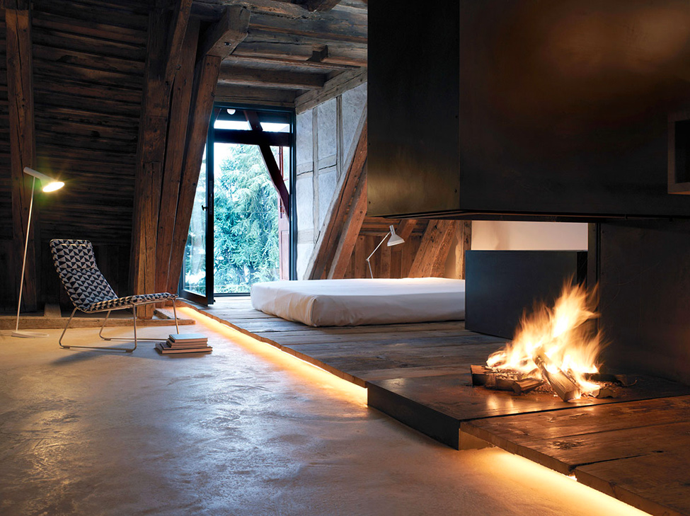 Historical simple house in the Alps