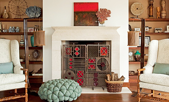 Decorate Your Fireplace for the Summer