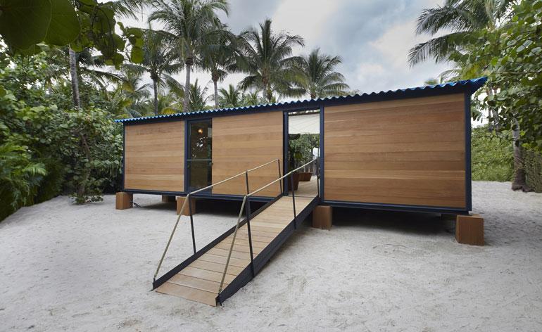 Retro realizations: unique beach house