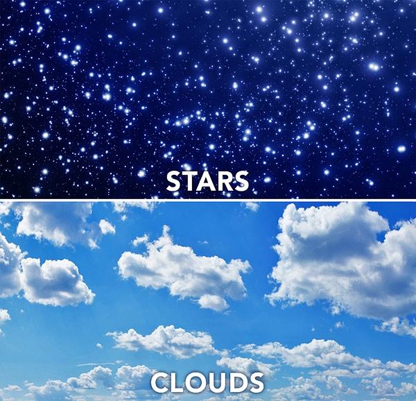 Sky light scene