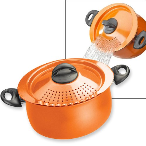 Useful pot with drain lid
