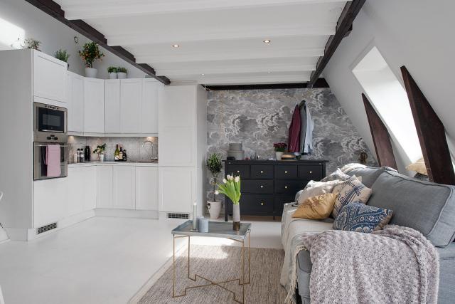 Adorable loft in Sweden