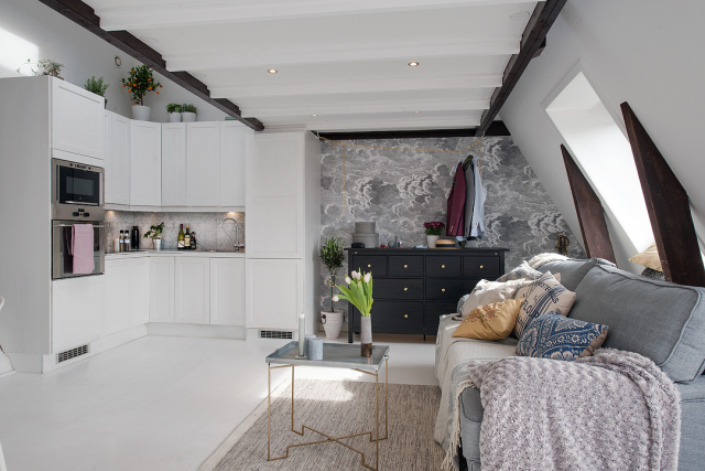 Adorable loft in Sweden