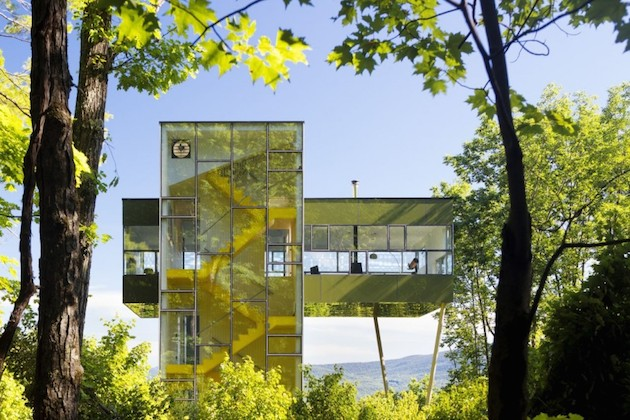 Glass tower house in the States