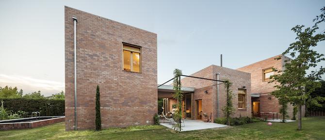 Spanish brick house