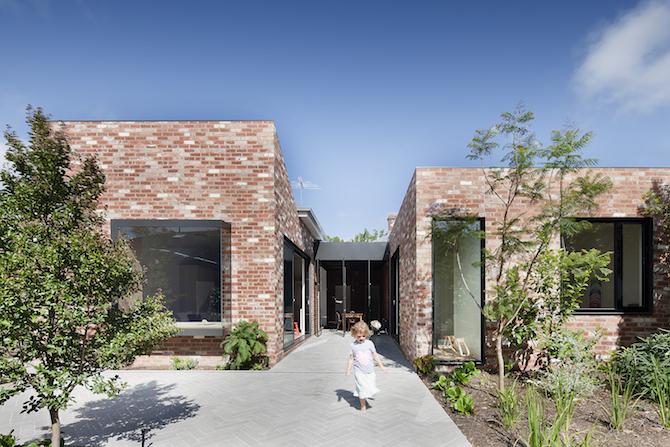 Sturdy red brick walls in Australia