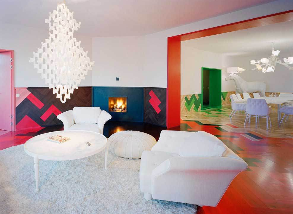 Bold and colorful decor in Sweden