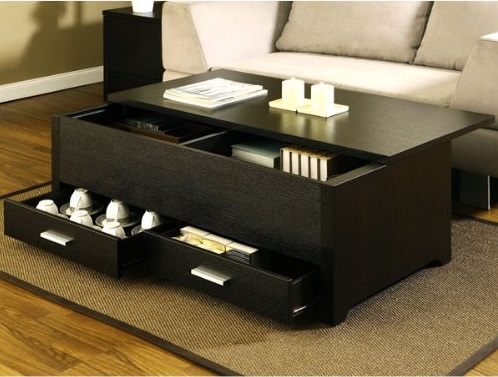 Functional storage coffee table