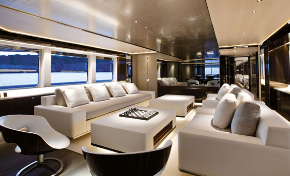 Luxurious yacht Interior