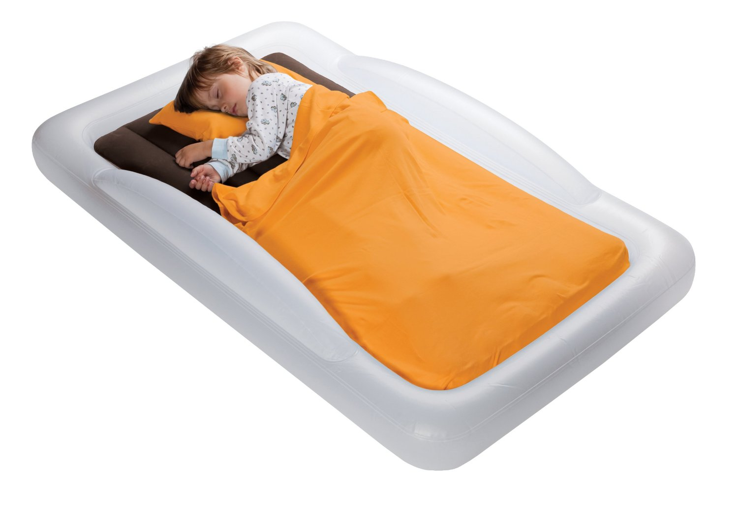 Small child's inflatable travel bed