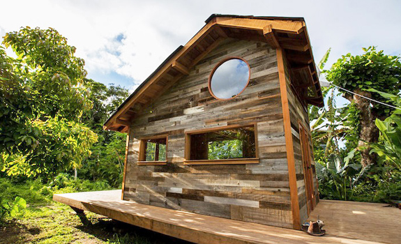Small wooden cabin that is big on style - exterior
