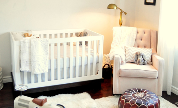 Nursery room in cream colors