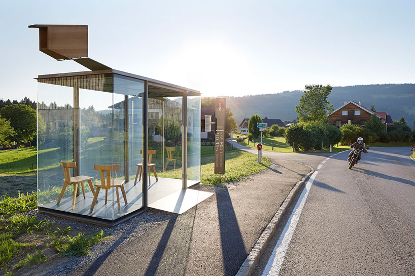 Unique Austrian bus stops