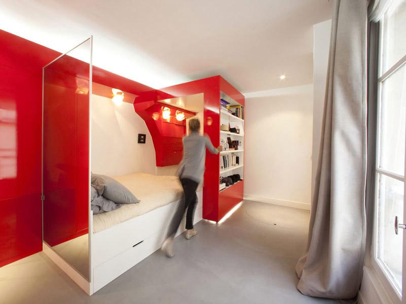 Vibrant compact space design