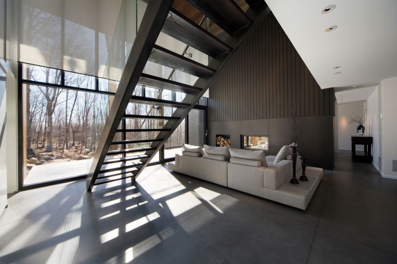 Where Nature Is Art Contemporary Forest Home In Montreal