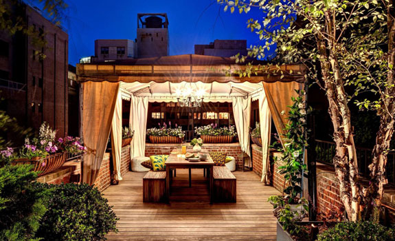 Roof terrace in the Big Apple