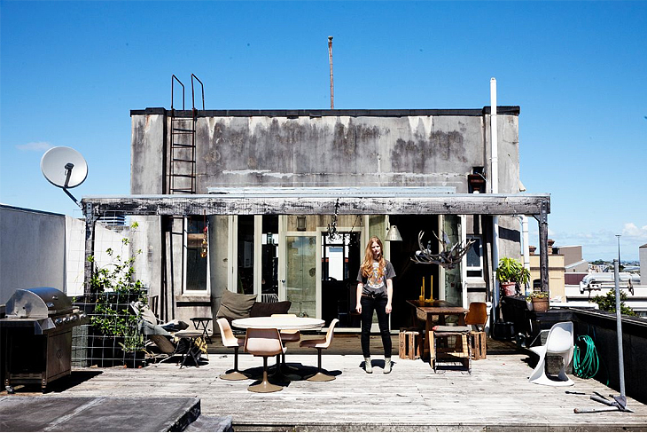 Rooftop home that exemplifies Charlotte Rust's love for things unique