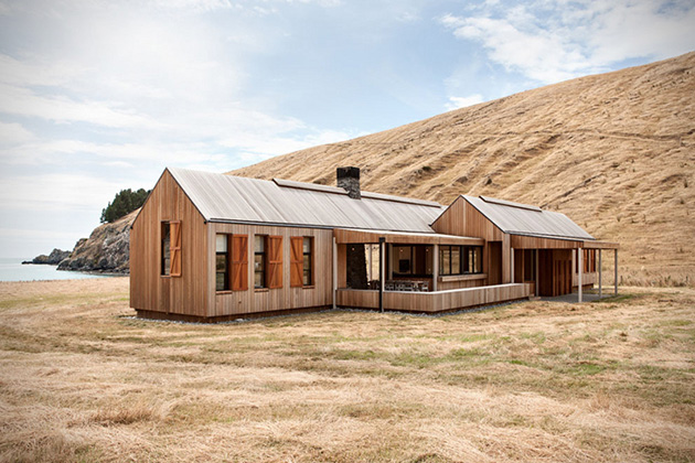 A contemporary farmhouse by Patterson Associates
