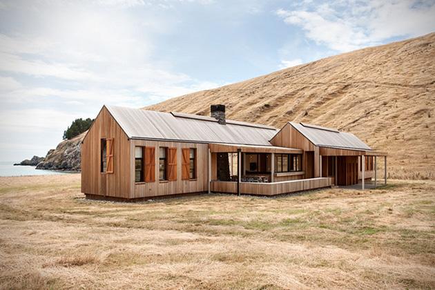 A contemporary farmhouse by Patterson Associates
