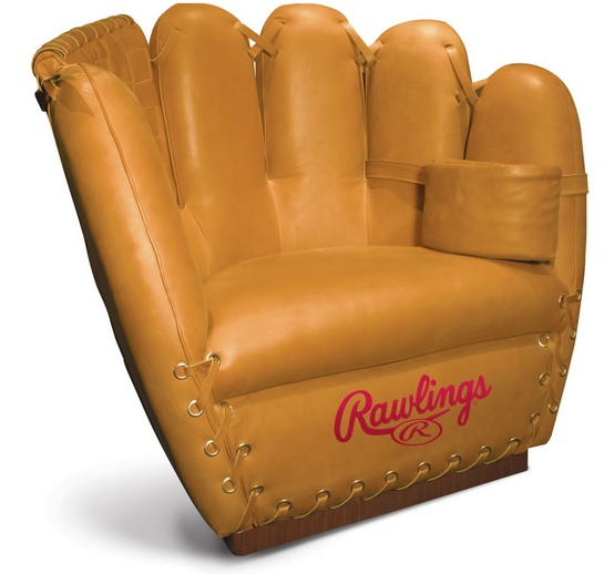 Authentic baseball glove chair, play ball!