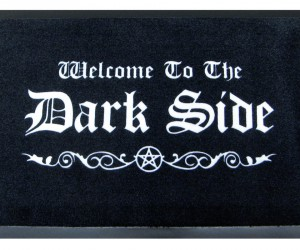 Enter the point of no return with this Halloween doormat