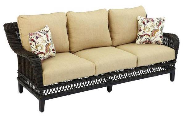 Hampton Bay Woodbury Wicker Sofa