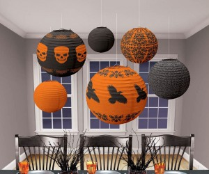 Have a haunted party with Halloween paper lanterns