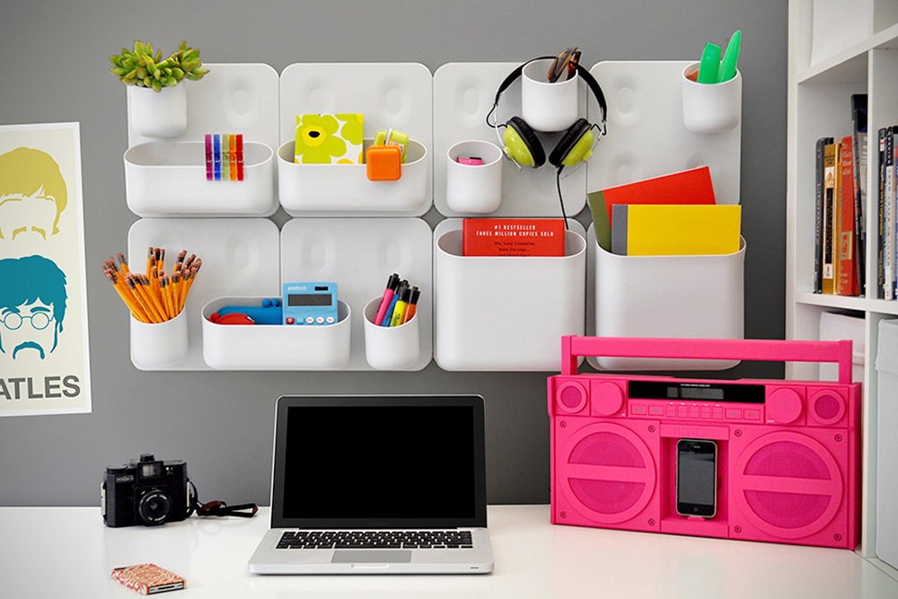 wall decor and storage cheats: magnetic modular shelves – adorable