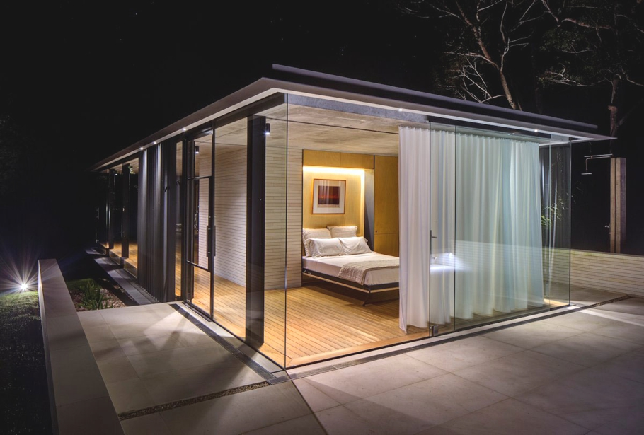 Stunning glass pavilion offers perfect mini spa retreat