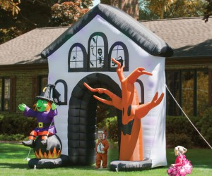 The inflatable haunted house