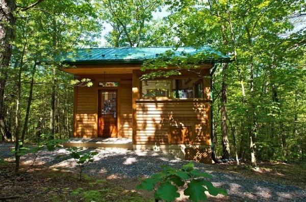 An invitation to unwind: tiny wooden retreat