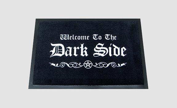 Welcome to the Dark Side Halloween Doormat