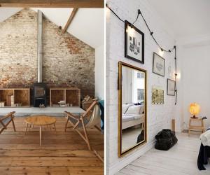 Interior decoys: convincing brick wallpaper ideas
