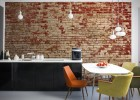 Interior decoys: convincing brick wallpaper ideas