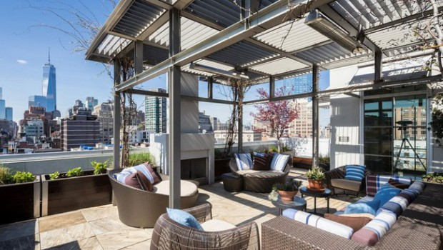 The luxurious penthouse in Soho
